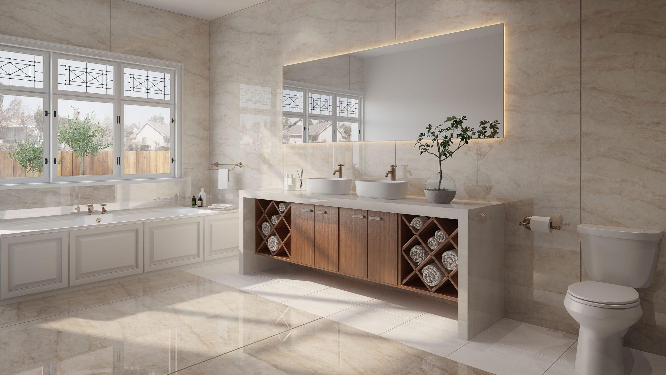 Dekton bathroom - Xgloss Stonika - Arga 2 (Flooring ZENITH)